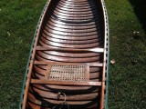 1950's Cedar strip canvas Canoe mint condition! - [click here to zoom]