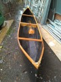 16ft wooden hand crafted canoe - [click here to zoom]