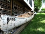 Vintage Indian Brand (Sagamo) Canoe - [click here to zoom]