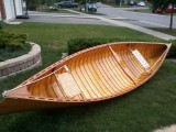 "Handcrafted 14'9"" Cedar Strip Canoe needs a good home."