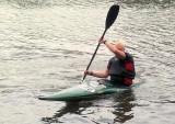 Two Double Dutch slalom kayaks