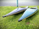 Two Double Dutch slalom kayaks - [click here to zoom]