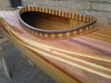 Gorgeous Wooden Strip Sea Kayak - [click here to zoom]